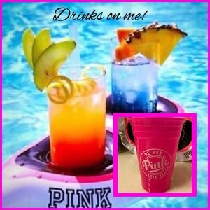 "💗Pink Sunglass Floatie Drink Holder w/ ""Pink"" Cup"